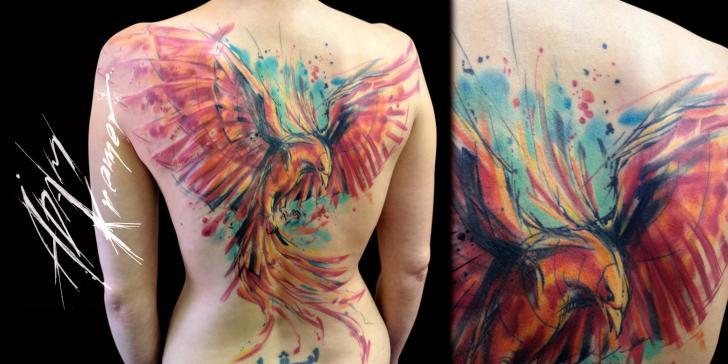 Fantasy Back Phoenix Tattoo by Tribo Tattoo