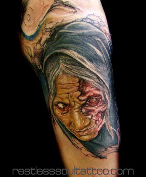 Arm Fantasy Women Tattoo by Restless Soul Tattoo