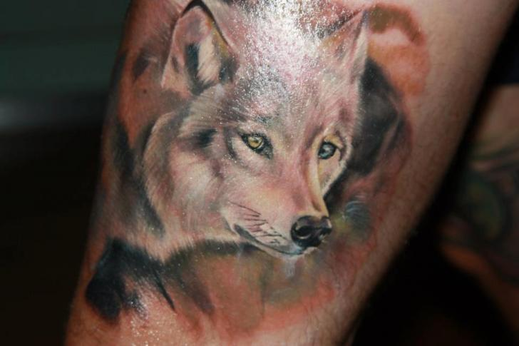 Arm Realistic Wolf Tattoo by Restless Soul Tattoo
