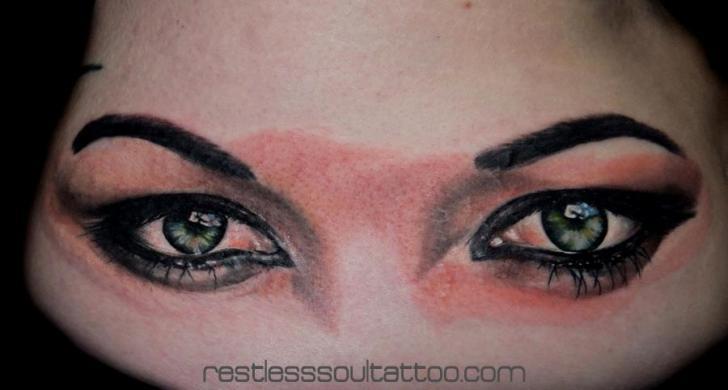 Realistic Eye Tattoo by Restless Soul Tattoo