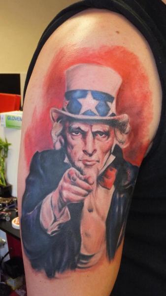 Shoulder Usa Men Tattoo by Restless Soul Tattoo