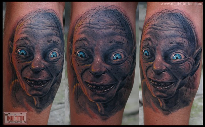 Arm Fantasy Gollum Tattoo by Anabi Tattoo