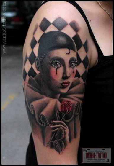 Shoulder Fantasy Women Tattoo by Anabi Tattoo