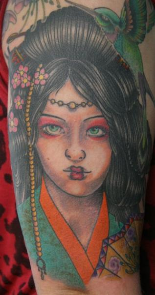 Arm Japanese Women Tattoo by 25 To Life Tattoos