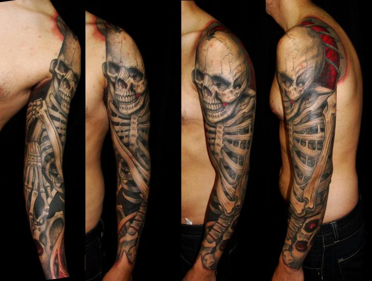 Tatuaje Esqueleto Manga por Javier Tattoo