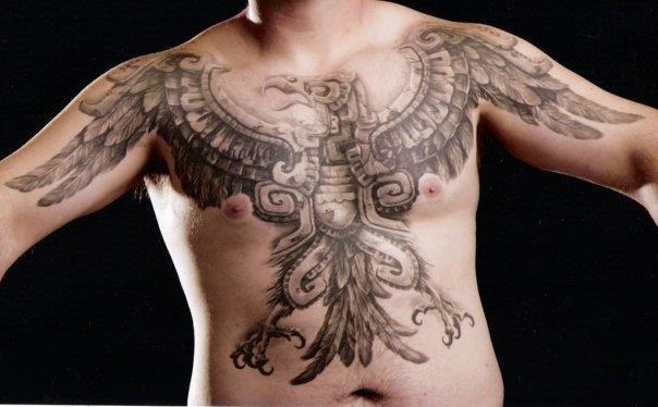 Shoulder Chest Belly Phoenix Tattoo by Carlos Torres