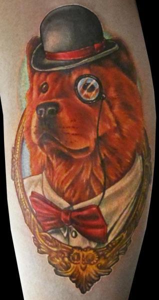 Arm Fantasy Dog Tattoo by Logan Aguilar