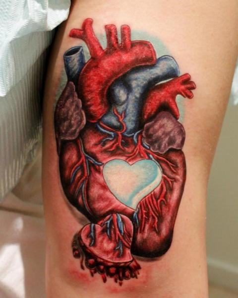 Arm Realistic Heart Tattoo by Logan Aguilar