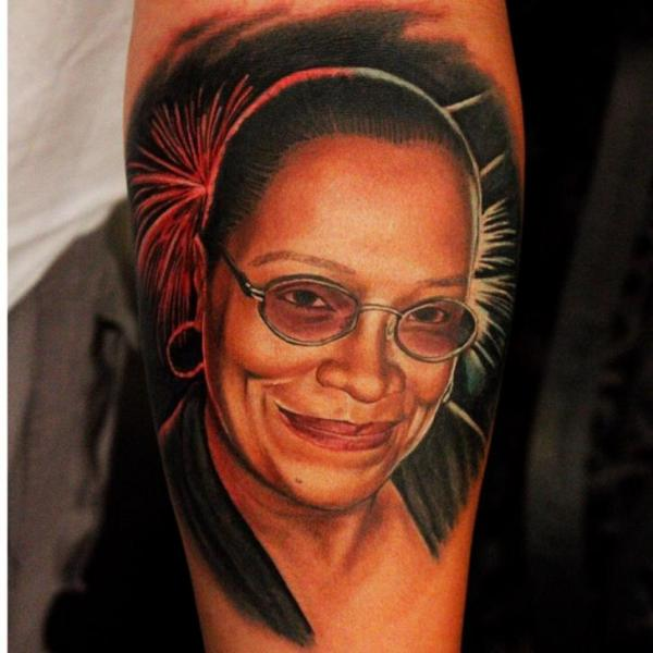 Arm Portrait Realistic Tattoo by Logan Aguilar