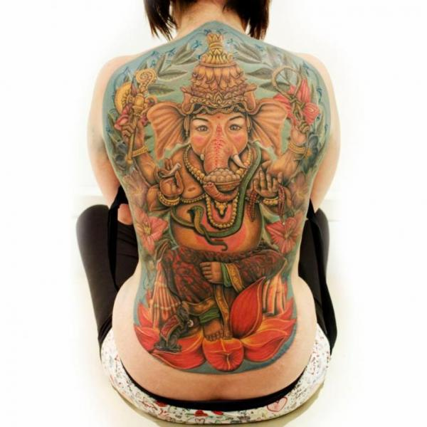 Back Religious Tattoo by Logan Aguilar
