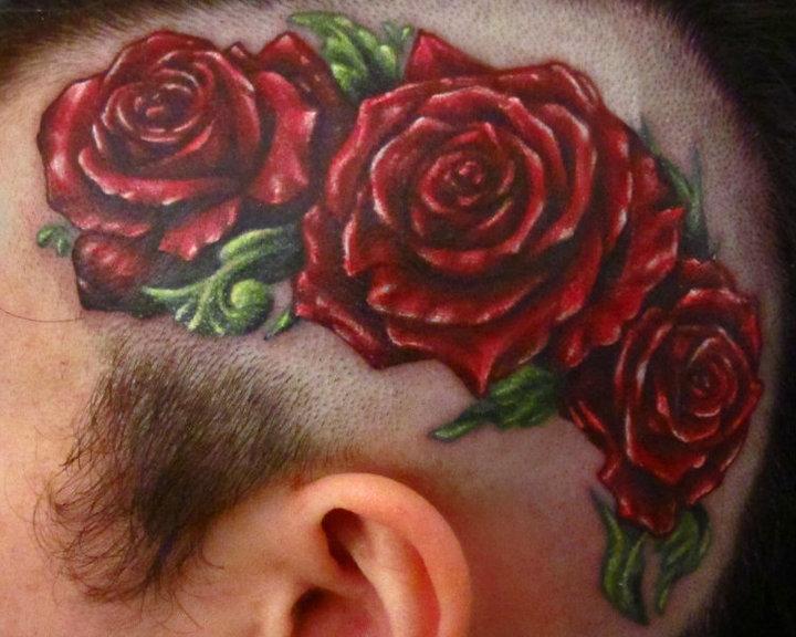 Tatuaggio Realistici Fiore Testa di Logan Aguilar