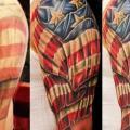 tatuaggio Spalla Usa Bandiera di Logan Aguilar