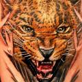 Realistic Tiger Thigh tattoo by Logan Aguilar