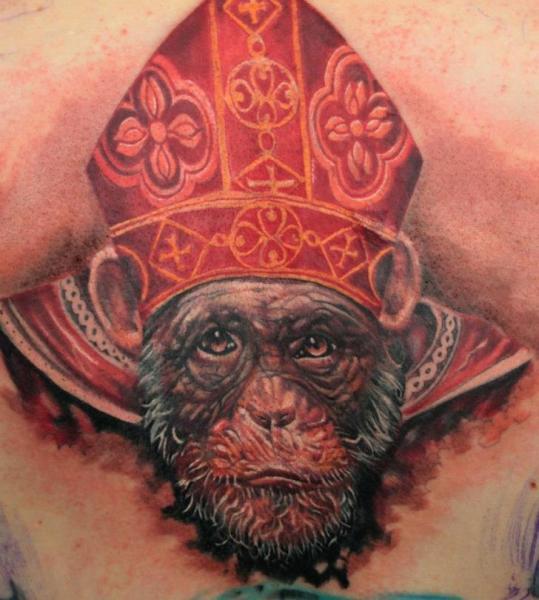 Fantasy Monkey Pope Tattoo by Boris Tattoo