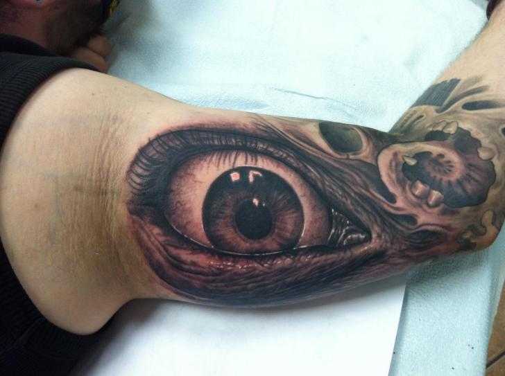 Arm Realistic Eye Tattoo by Josh Duffy Tattoo