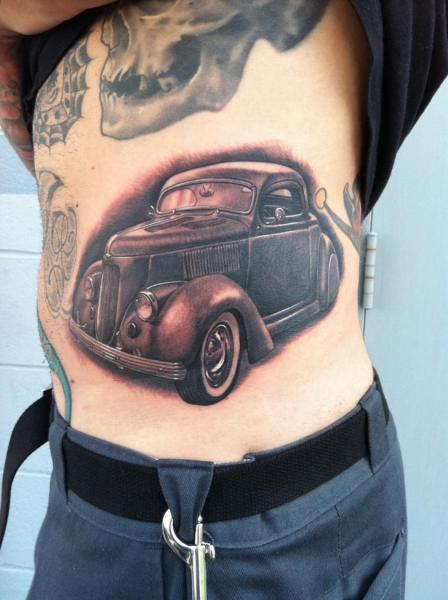 Realistic Side Car Tattoo by Josh Duffy Tattoo