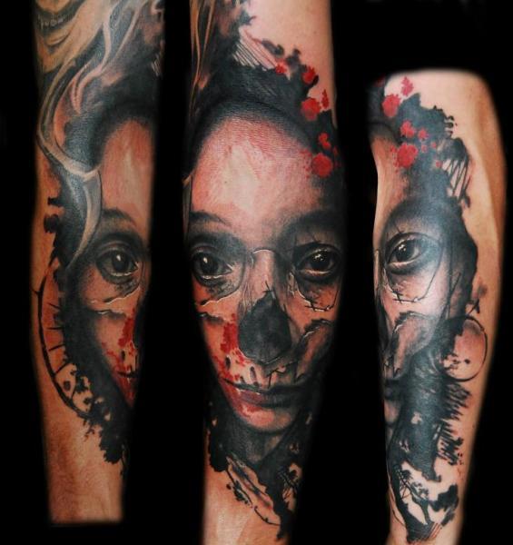 Arm Fantasie Totenkopf Frauen Tattoo von Ink-Ognito