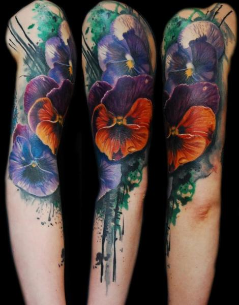 Arm Flower Tattoo by Ink-Ognito