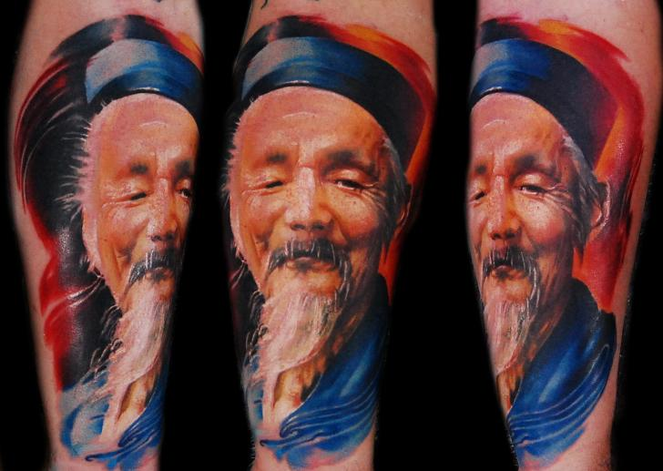 Arm Portrait Realistic Tattoo by Ink-Ognito