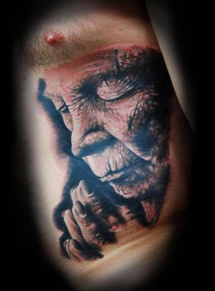 Portrait Realistic Side Tattoo by Ink-Ognito