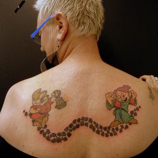 Back Dwarf Tattoo by Art 4 Life Tattoo