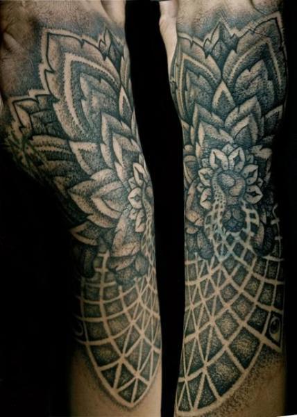 Arm Dotwork Tattoo by Jo Harrison