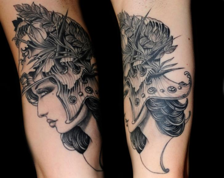 Arm Fantasy Women Tattoo by Skull and Sword