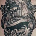 Belly Boat Ship tattoo by Nick Bertioli