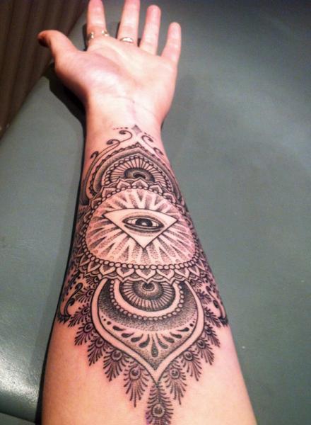 Arm God Dotwork Tattoo by Holy Trauma