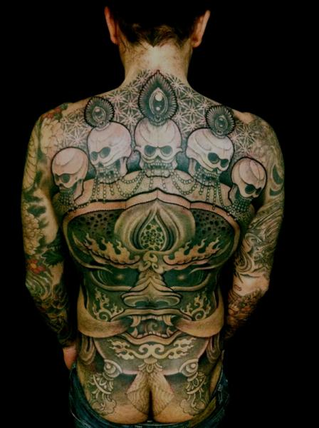 Skull Back Demon Butt Tattoo by Holy Trauma