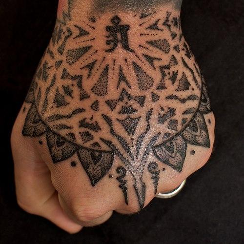 Hand Dotwork Tattoo by Holy Trauma