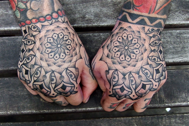 Hand Dotwork Tattoo by Holy Trauma