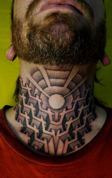 Nacken Dotwork Tattoo von Holy Trauma