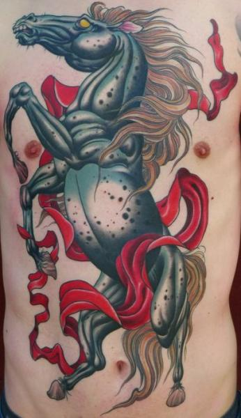 Fantasy Side Horse Tattoo by Peter Lagergren