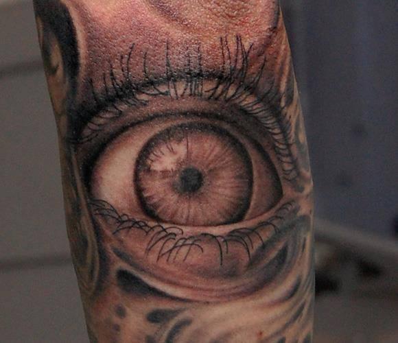 Arm Eye Tattoo by Pistolero Tattoo