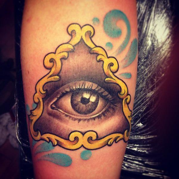 Arm Eye God Tattoo by Pistolero Tattoo