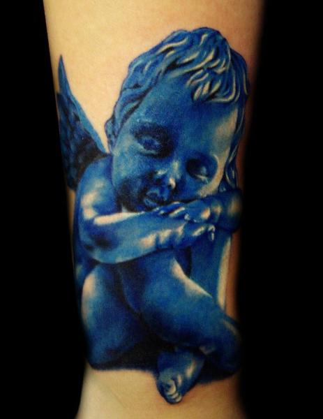 Arm Fantasie Engel Tattoo von Carl Grace