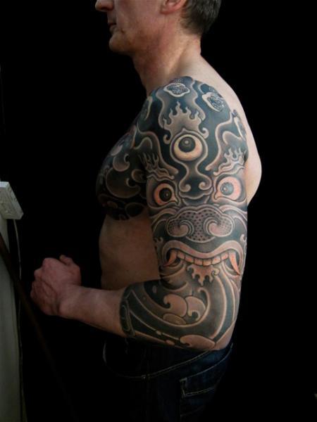 Arm Japanese Demon Tattoo by Admiraal Tattoo