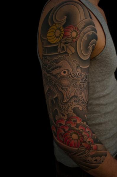 Arm Japanese Dragon Tattoo by Admiraal Tattoo