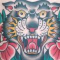 Old School Tiger Bauch tattoo von Admiraal Tattoo