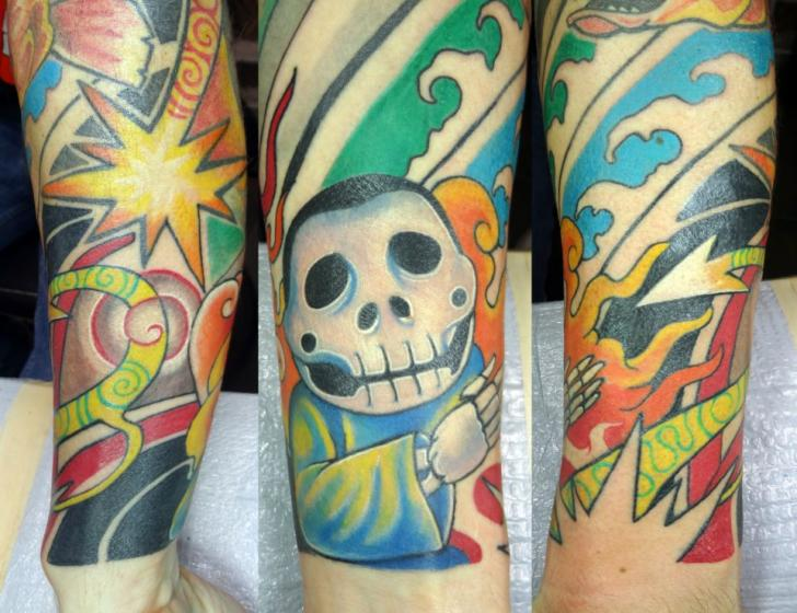 Arm Fantasy Character Comic Tattoo by Insight Studios