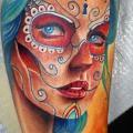tatuaggio Braccio Teschio Messicano di Insight Studios
