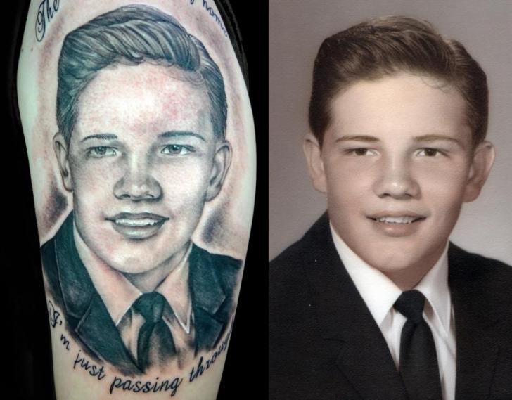 Tatuaggio Braccio Ritratti Realistici di Insight Studios