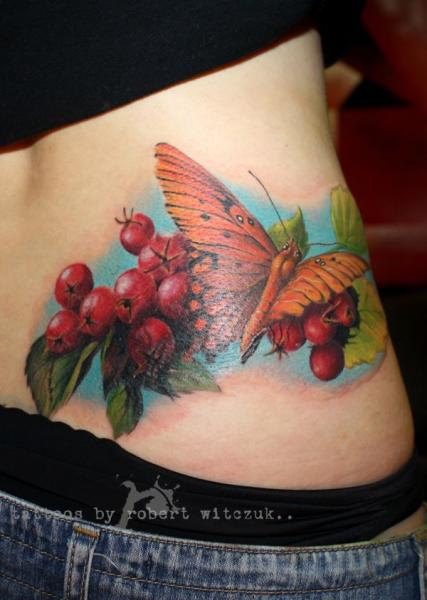 Realistic Side Moth Tattoo by Robert Witczuk