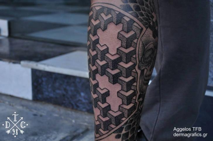 Arm Dotwork Tattoo by Dermagrafics