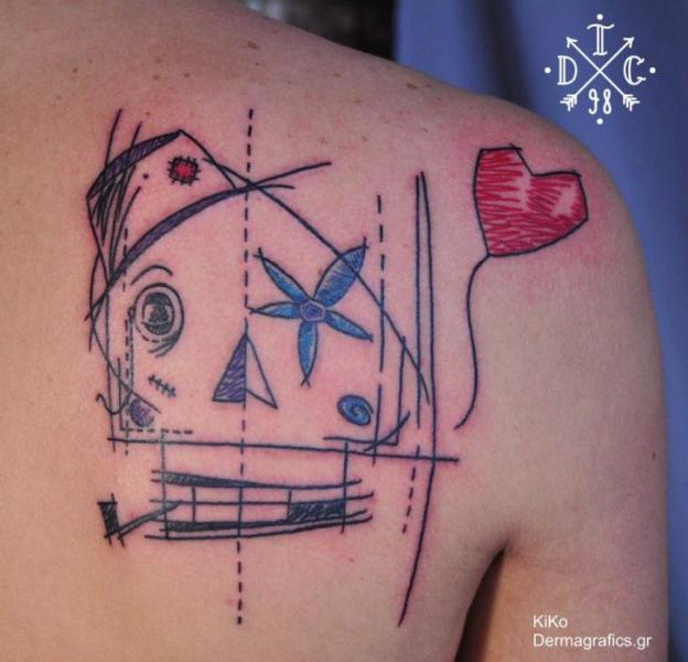 Fantasie Rücken Tattoo von Dermagrafics