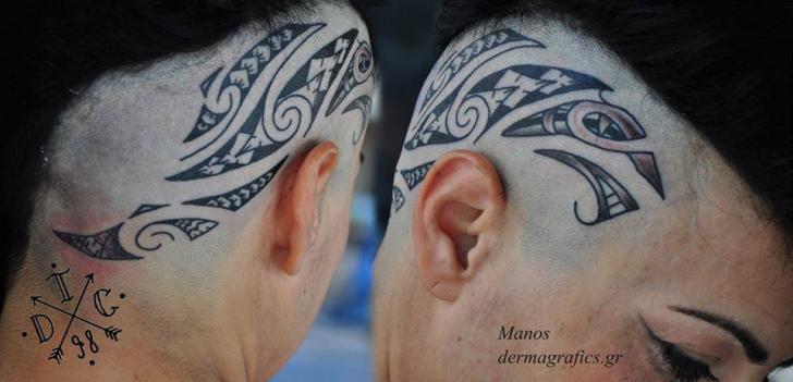 Tatuaggio Tribali Testa di Dermagrafics