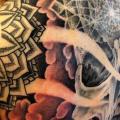 Schulter Totenkopf Rücken Dotwork tattoo von Dermagrafics