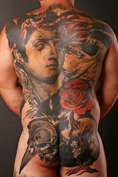 Realistic Back Butt Tattoo by PS Tattoo