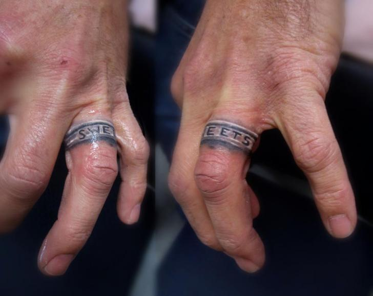Realistic Finger Ring Tattoo by Serenity Ink 414